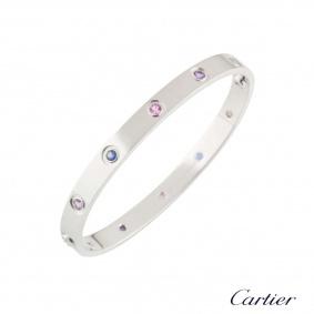Cartier Coloured Stones Love Bracelet Size 17 B6036317